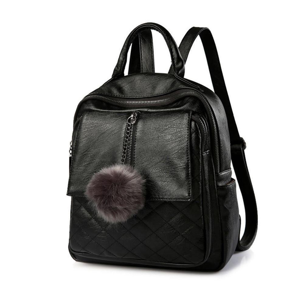91c2a349c7 Good Quality Women Casual Travel Backpack Soft Pu Leather Backpack Solid  Simple School Bag Backpack Girl S Daily Bag Best Laptop Backpack Wheeled  Backpacks ...