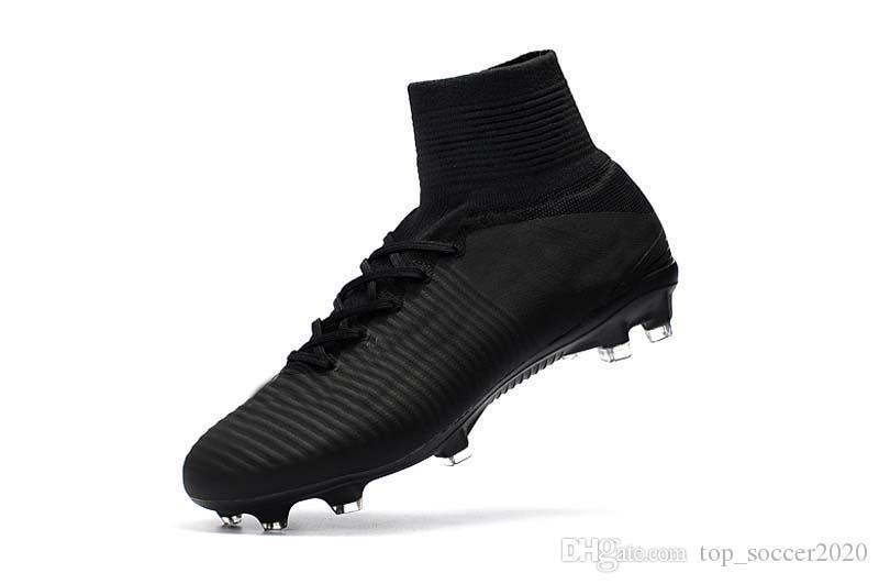 2019 Sale 2017 2019 All Black Soccer Cleats Mercurial Superfly V TF IC FG  Ronaldo CR7 Football Boots Mens Kids Womens Soccer Shoes From  Top soccer2020 3516d3e78