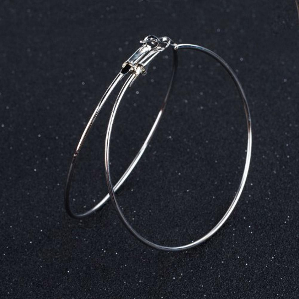 3b99eee9b 2019 Silver Gold Color Hoop Earring Fashion Basic Free Style Earing Jewelry  Minimalist Vintage Big Round Earrings For Women From Daliangzhou, ...