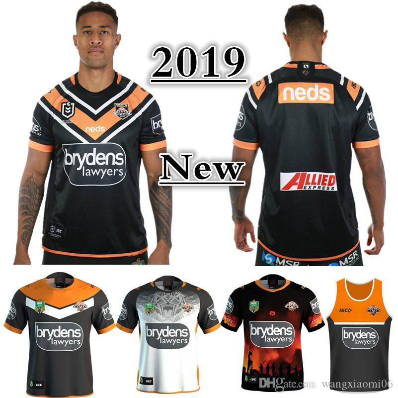 2018 2019 NRL JERSEYS WESTS TIGERS HOME JERSEY Sizes S 3XL BRISBANE BRONCOS  QUEENSLAND COWBOYS SYDNEY ROOSTERS 2018 ST GEORGE DRAGONS JERSEY From ... 7f3d23eac