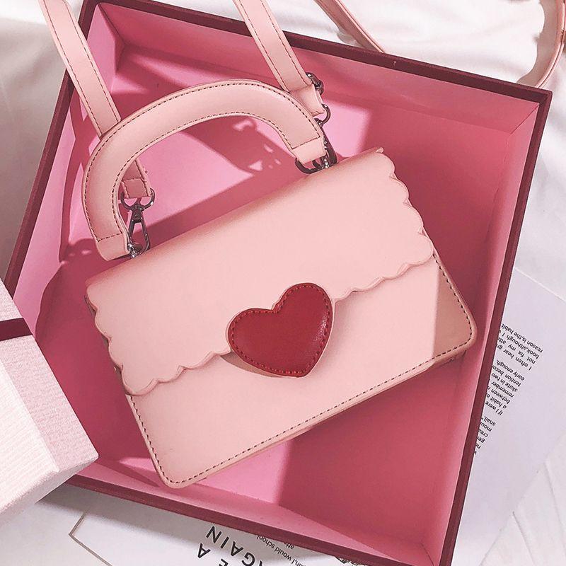 Korean Sweet Lady Square Bag 2019 Fashion New Quality Pu Leather Women S  Designer Handbag Cute Girl Tote Shoulder Messenger Bags Branded Handbags  Ivanka ... e20a7d71c8a77