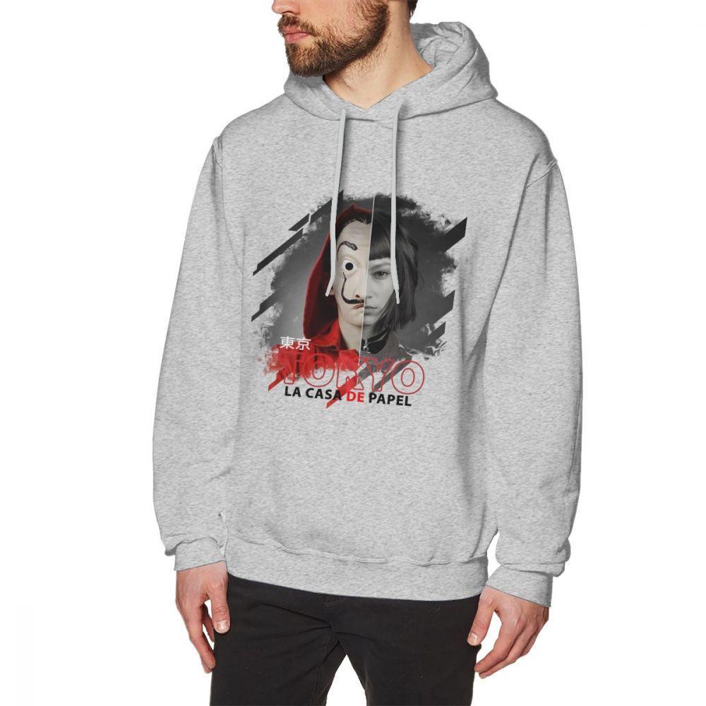 Tokyo Casa Papel hoodies Money Heist Long Sleeve For Men Great sweatshirt  Pure Cotton BONADIAO