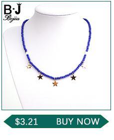 BOJIU Trendy Faceted Mavi Kristal Charm Bilezikler Kadınlar Için Moda Gümüş Hematit Altın Bakır Top Kristal Top Bilezik BC267