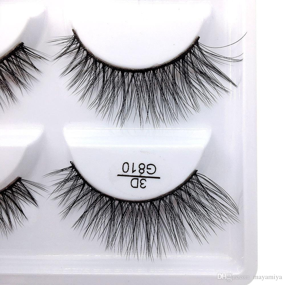 5pairs/set False EyeLashes 5 Pairs 3D Natural Long Fake Eyelashes G810 Handmade Makeup Tools Accessories
