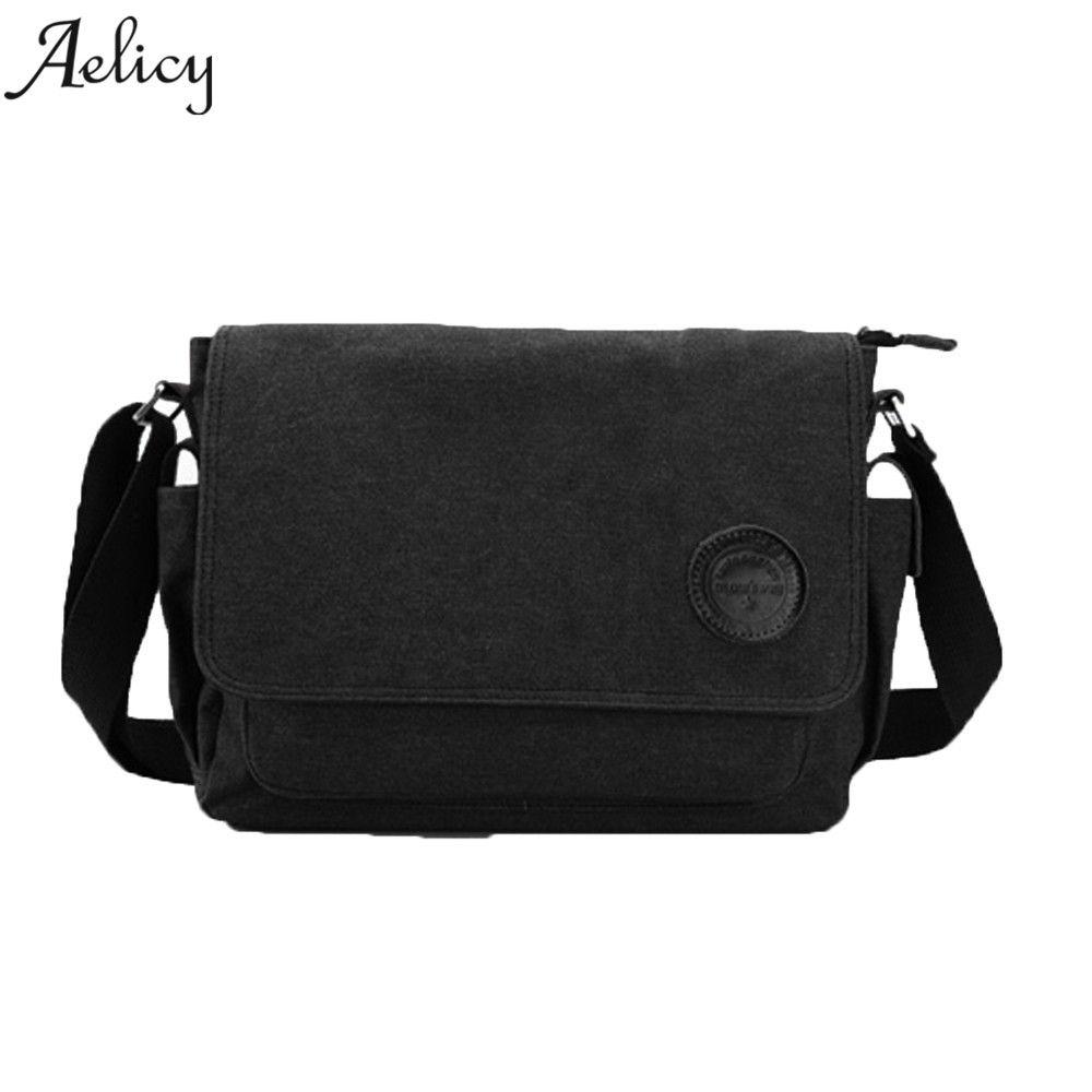 4df32d85c5 Aelicy Vintage Men S Messenger Bag Black Coffee Canvas Shoulder Bag Men  Casual Briefcase High Quality Travel Handbag 2019 Fashion Bags Designer  Handbags On ...