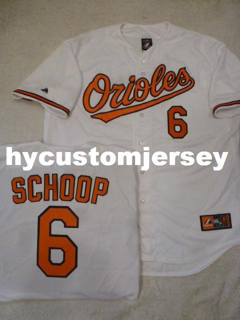 hot sale online ff964 0e56e Cheap custom MAJESTIC Baltimore #6 JONATHAN SCHOOP Baseball Sewn JERSEY  Mens stitched jerseys Big And Tall SIZE XS-6XL For sale