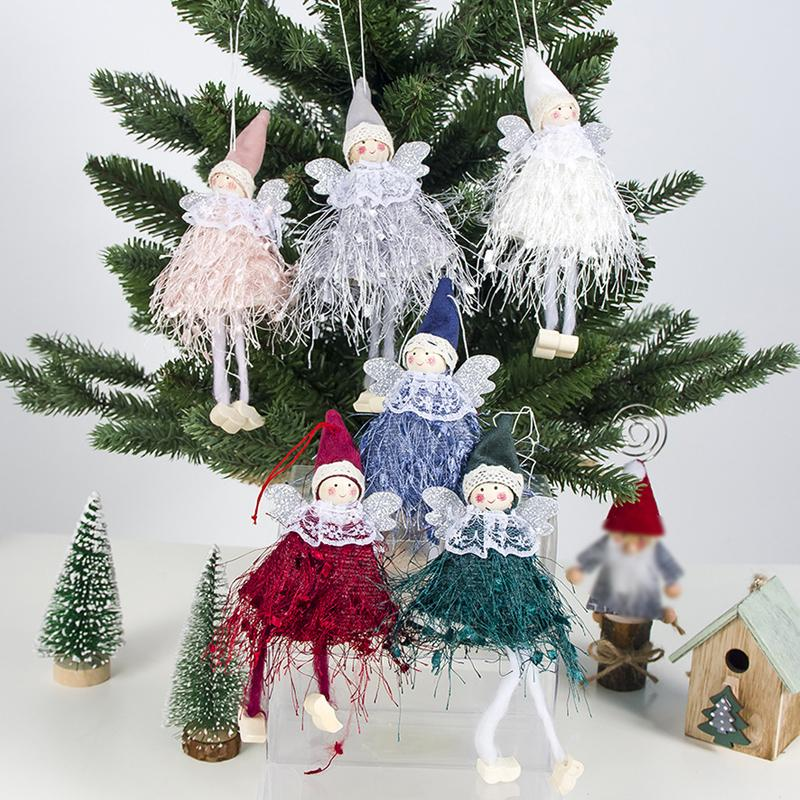 Cute Angel Doll Christmas Pendant Christmas Tree Hanging Ornament Decoration for Home New Year Gifts for Kids