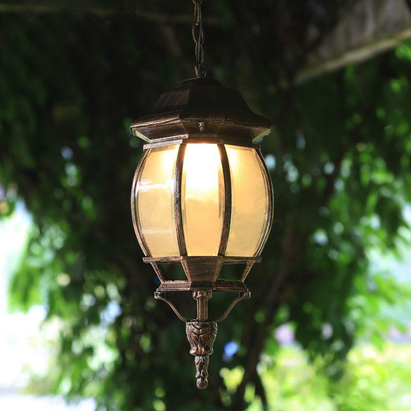 Vintage Glass Chandeliers Ball Outdoor Pendant Lamp Balcony Grape