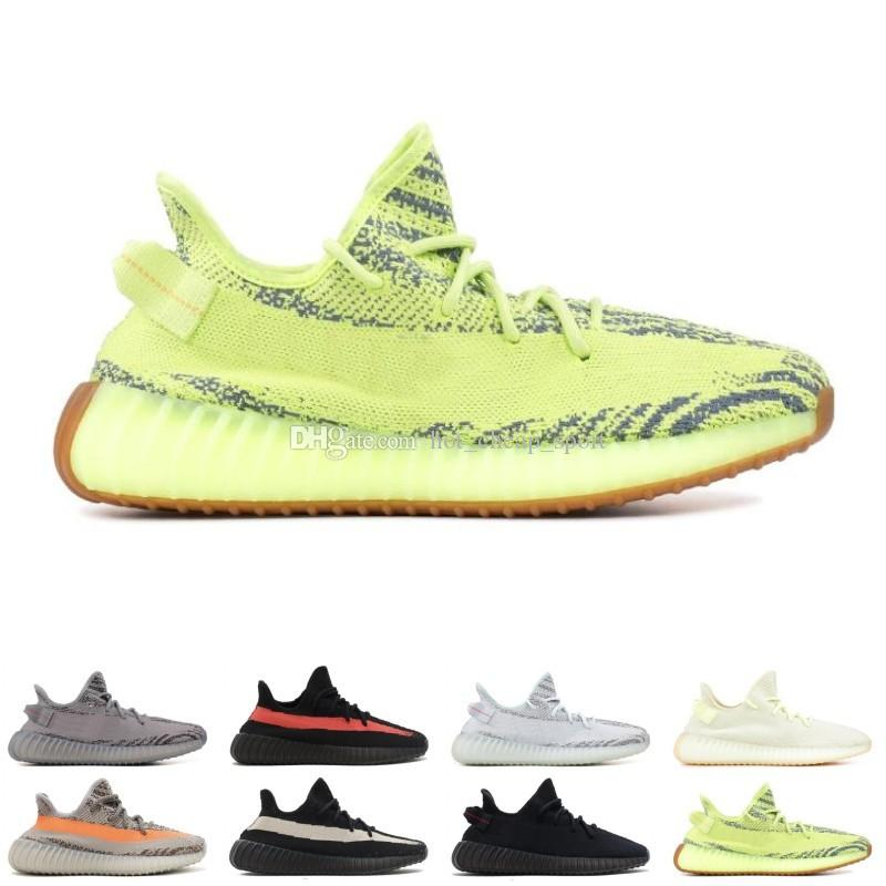 check out b074f 60b14 Acheter 2019 Nouveau 2 Static Clay Sesame True Forme Hyperspace Hommes  Femmes Chaussures De Course Kanye West Beluga 2.0 Orange Bred Baskets De Sport  Taille ...