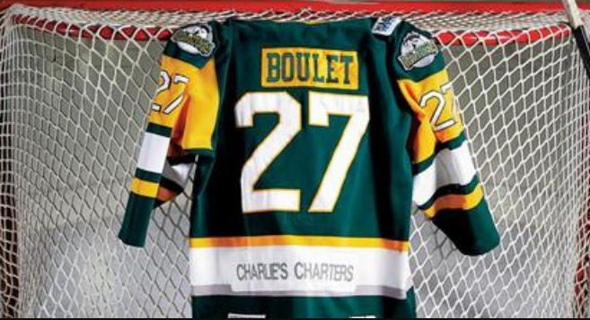 Real Men real Full embroidery #27 Humboldt Broncos Logan Boulet Vintage Hockey Jersey or custom any name or number Jersey
