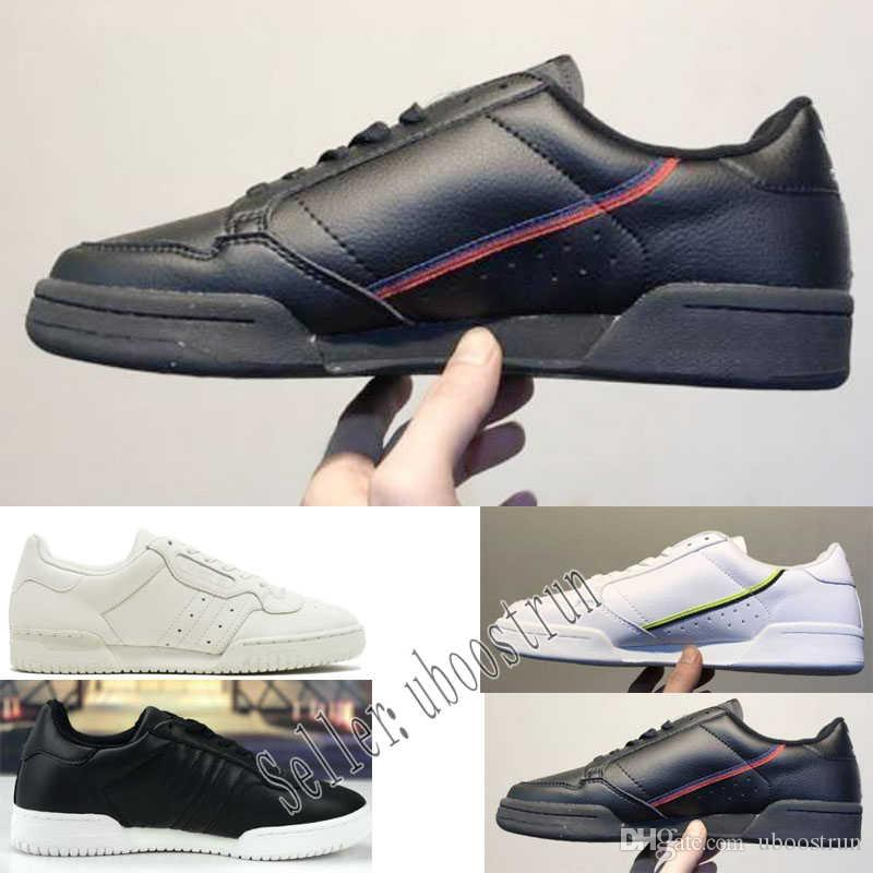 on sale 5c998 0905e Acquista 2019 Adidas Calabasas Powerphase Grey Continental 80 Scarpe Casual  Kanye West Aero Blu Core Nero OG Bianco Uomo Donna Trainer Sport Sneakers  40 45 ...