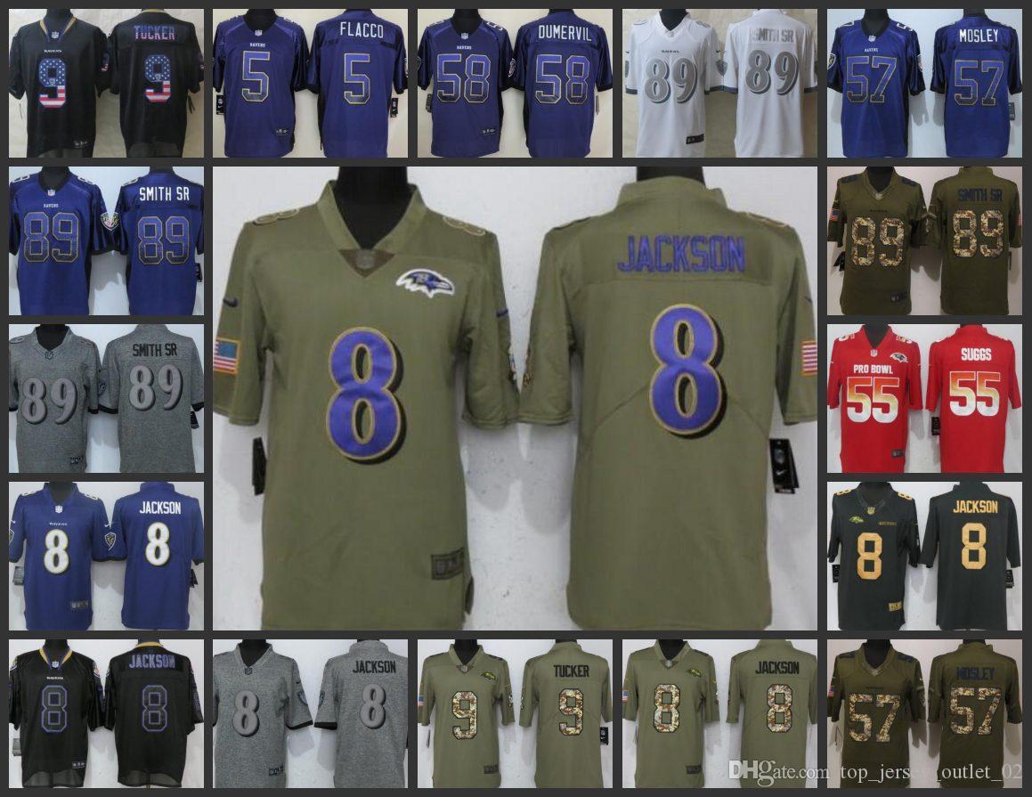 2019 Baltimore Ravens Embroidery Men Jersey  9 Justin Tucker 5 Joe Flacco  57 C.J. Mosley 89 Steve Smith Women Youth Football Jerseys From ... 8d5971895