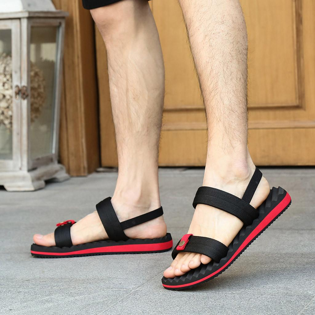 caa3fe0bb10 YOUYEDIAN Men Sandals 2019 Casual Elastic Band Flat Slippers Men Summer  Beach Shoes Outdoor Slide Mens Sandals Red Sandles Wedge Booties From  Bruceee