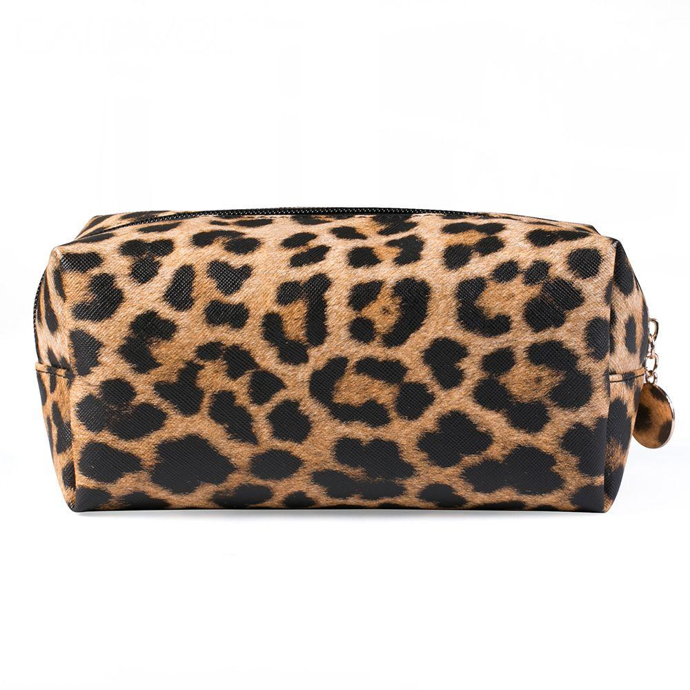 Leopard Leather Makeup Bags Travel Organizer Cosmetic Bags Tool Pouch Make Up Beauty Case Necessaire Toiletry Storage Bag CN258