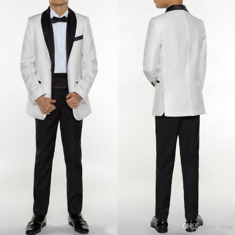 2f75178e5339b Compre Fashion Boys Tuxedo Boys Trajes Formales De Tres Piezas Chicos  Tuxedo Para Niños Trajes De Ocasión Formales Blancos Para Hombres Pequeños  A  64.73 ...