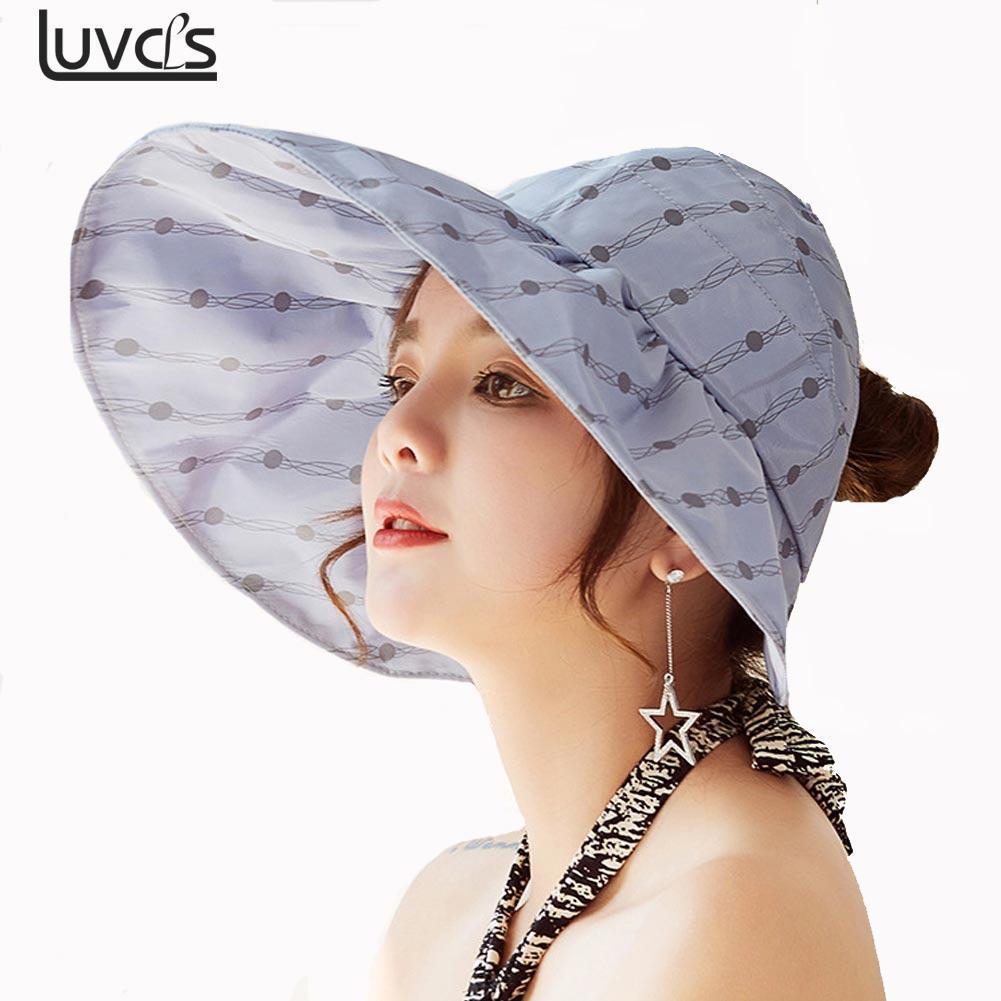 Compre Moda UV Sombrero De Sol Sombreros De Verano Para Mujeres Sombrero De  Paja Sombrero De Paja Playa De Organza Gorra Viseras Gorras Plegable Floppy  A ... 947c87fad72