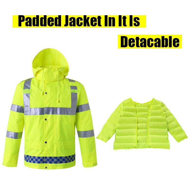 1cd89271e5cff Compre Chaqueta Reflectante Impermeable Impermeable Impermeable A Prueba De  Viento   Impermeable Fluorescente Verde Para Hombre Abrigos Para Hombre 3XL  ...