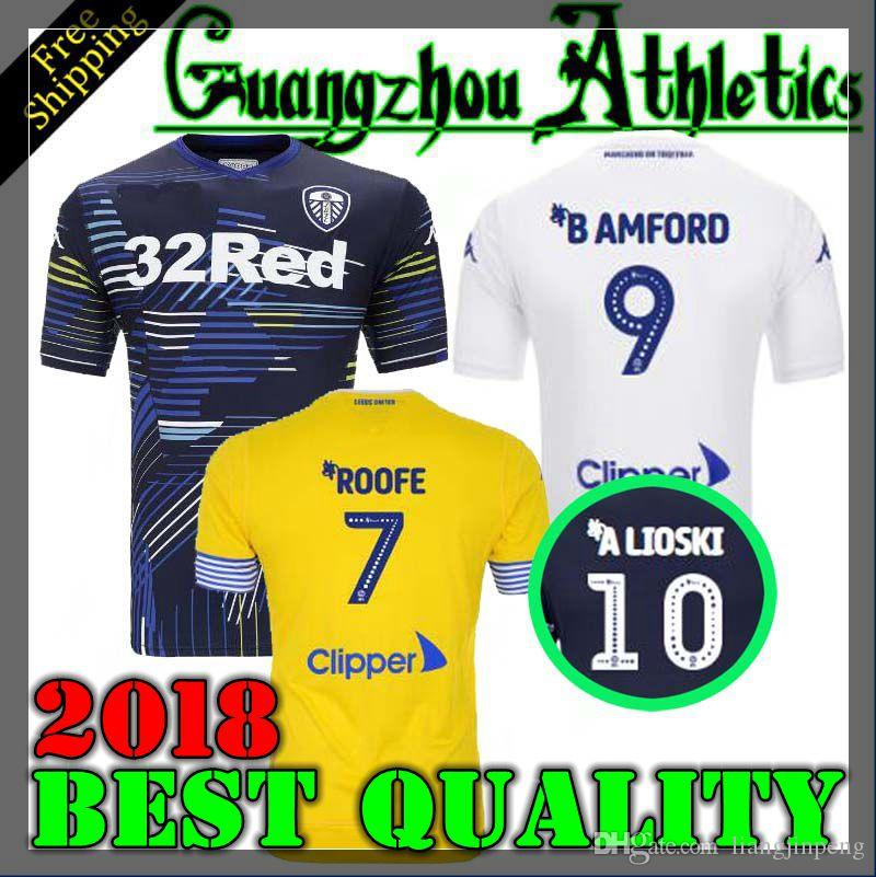 822c19123 Top Quality 18 19 Leeds United Soccer Jerseys 2018 2019 Leeds United  Champion JANSSON BAMFORD Shirts Football Shirt Jersey Online with   18.41 Piece on ...