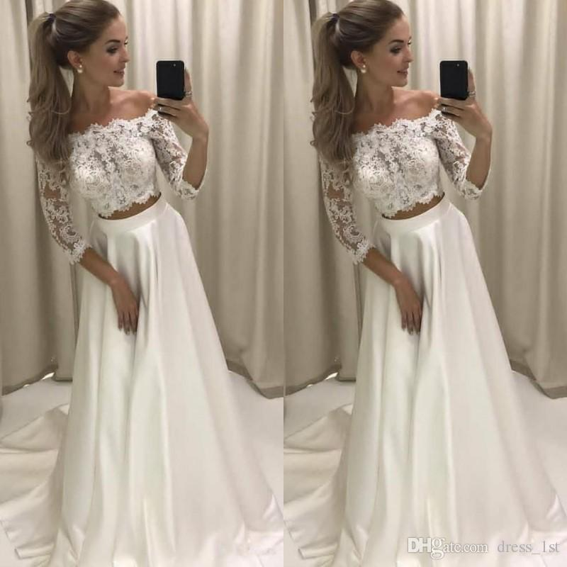 Discount Spring 2019 Bohemian Wedding Dresses Cheap Off