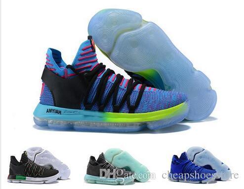 newest d5392 d2030 Zoom Kd 10 X Anniversary PE BHM Red Oreo Triple Black Men Basketball Shoes  KD10 Elite Low Kevin Durant Athletic Sport Sneakers 40 46 Shoes Jordans  Sneakers ...