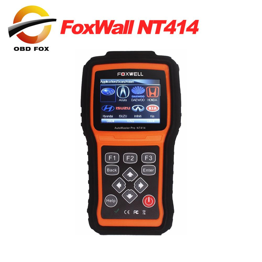 Automotive scanner Car Diagnostic Tool Foxwell NT414 For Air Bag SRS Reset  Tool Engine Oil Light Reset EPB Service Tool DHL free