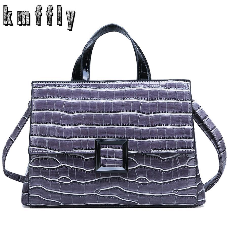 aa2acb29e54c 2019 New Fashion Women Handbag Designer Glossy Leather Ladies Big ...
