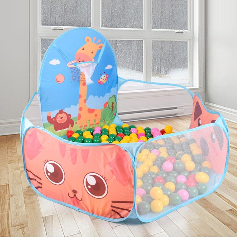 house house Foldable Children Kid Ocean Ball Pit Pool Game Play Ball Hoop In/Outdoor Play Hut Pool Play Tent House
