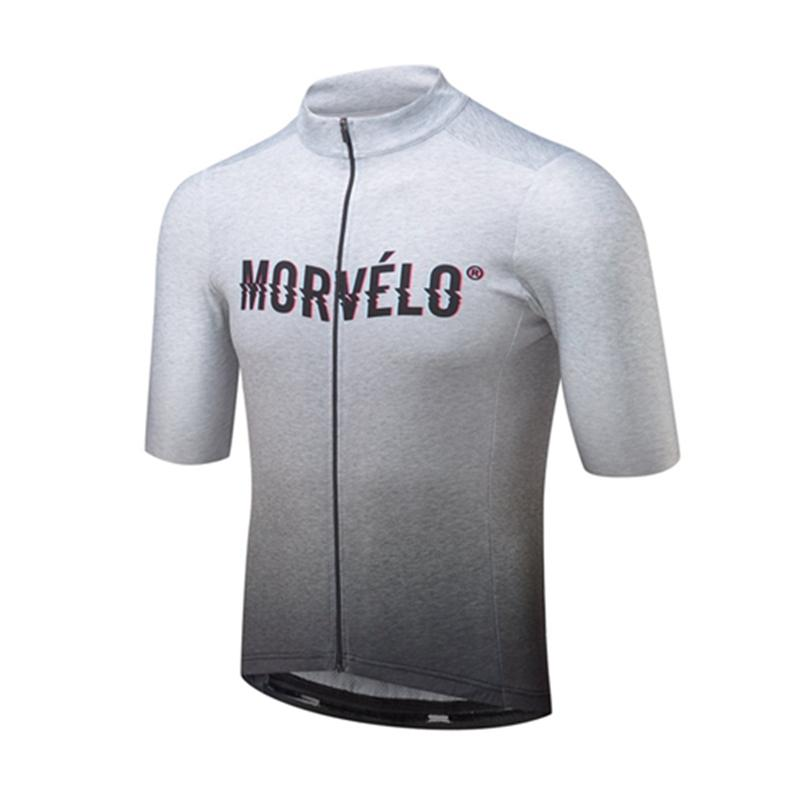 2019 team Morvelo Leisure Cycling Short tight Sleeves Zipper jersey Breathable Racing Outdoor Sports T-shirt 60523