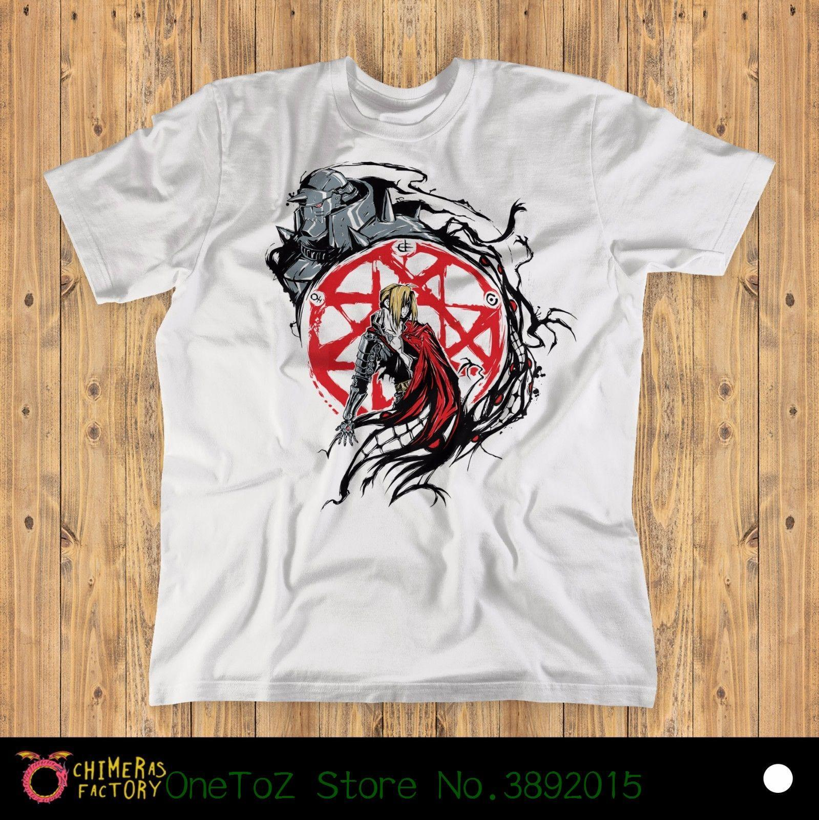 54c79ed6 Compre Top Harajuku Camiseta De Manga Curta Fullmetal Circle Unisex T Shirt  | Fullmetal Alchemist, Anime, Manga De Jie032, $14.67 | Pt.Dhgate.Com