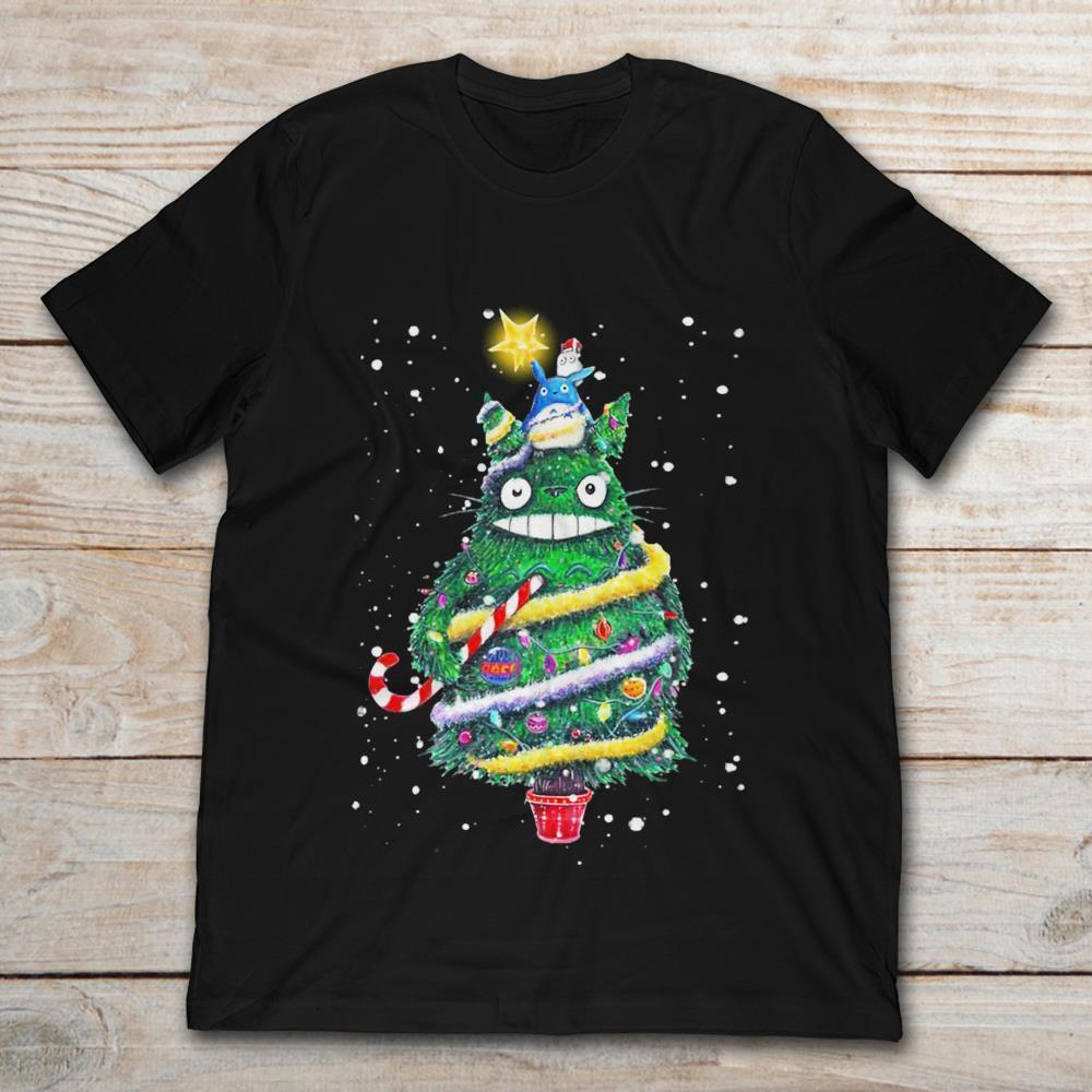 Navidad Totoro Christmas Tree Shirt Holiday Gift Ideas 2018 Men S Lastest  Fashion Short Sleeve Printed Funny T Shirt Vintage T Shirts Band T Shirts  From ... d2f6a3e3a0