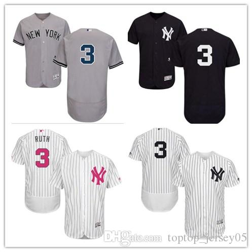 pretty nice 819c5 63cab 2018 can New York Yankees Jerseys #3 Babe Ruth Jerseys men#WOMEN#YOUTH#Men  s Baseball Jersey Majestic Stitched Professional sportswear