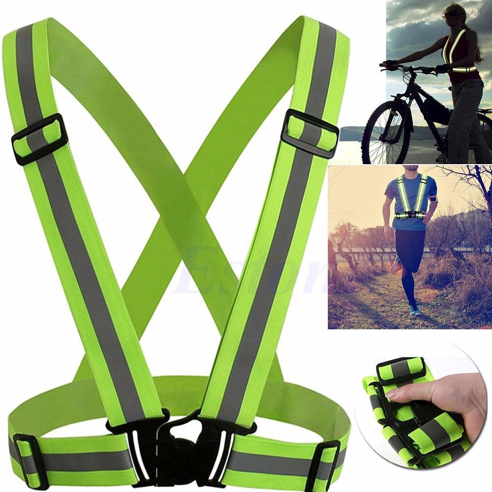 1 Pcs Unisex Outdoor Cycling Safety Vest Bike Ribbon Bicycle Light Reflecing Elastic Harness For Night Riding Running Jogging Back To Search Resultssports & Entertainment Bicycle Light