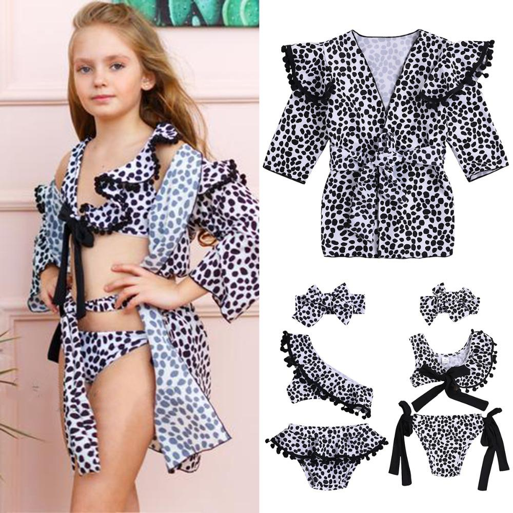 c8e7d3e430 Großhandel 2019 3 Stücke / 1 Stücke Kinder Baby Mädchen Leopard Sleeveless  / Volle Bogen Bikini Set Bademode Badeanzug Badeanzug Kostüm Kleidung Von  ...