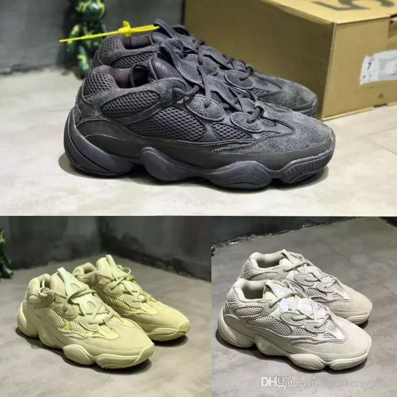 d928b66b2 Desert Rat Wsqsb 500 Mens Designer Shoes Running Sneakers SUPPER MOON  YELLOW 500 BLUSH UTILITY BLACK Cow Leather Sport Casual Shoe Online with   95.81 Piece ...
