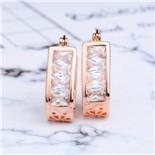 MISANANRYNE Top Qualität Neue Kristall Gold Farbe Ohrbügel Ohrstecker Schmuck