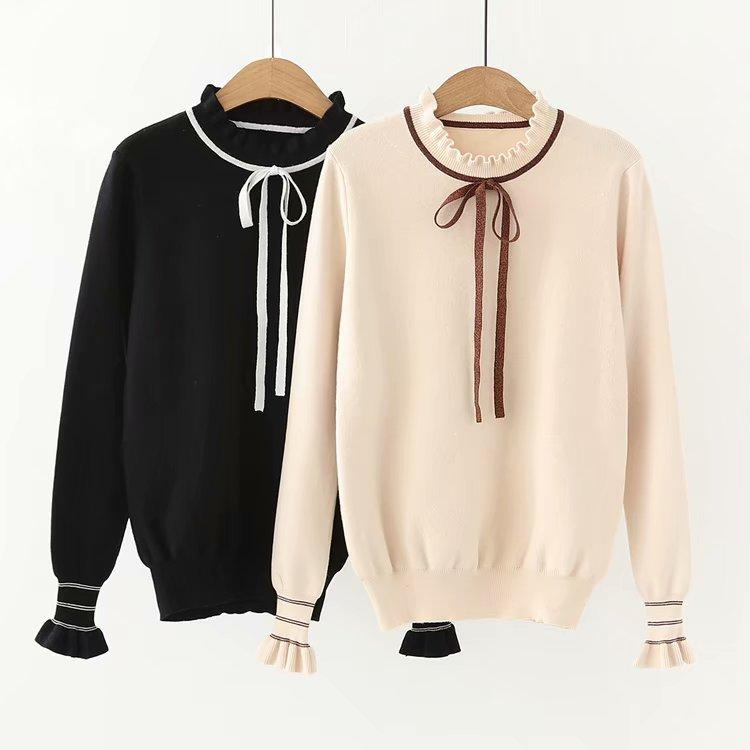 Women's Fashion Sweater European and American Sweet Lovely Style lady Butterfly Sleeve Sweater 2019 Spring Winter Pullover Sweaters