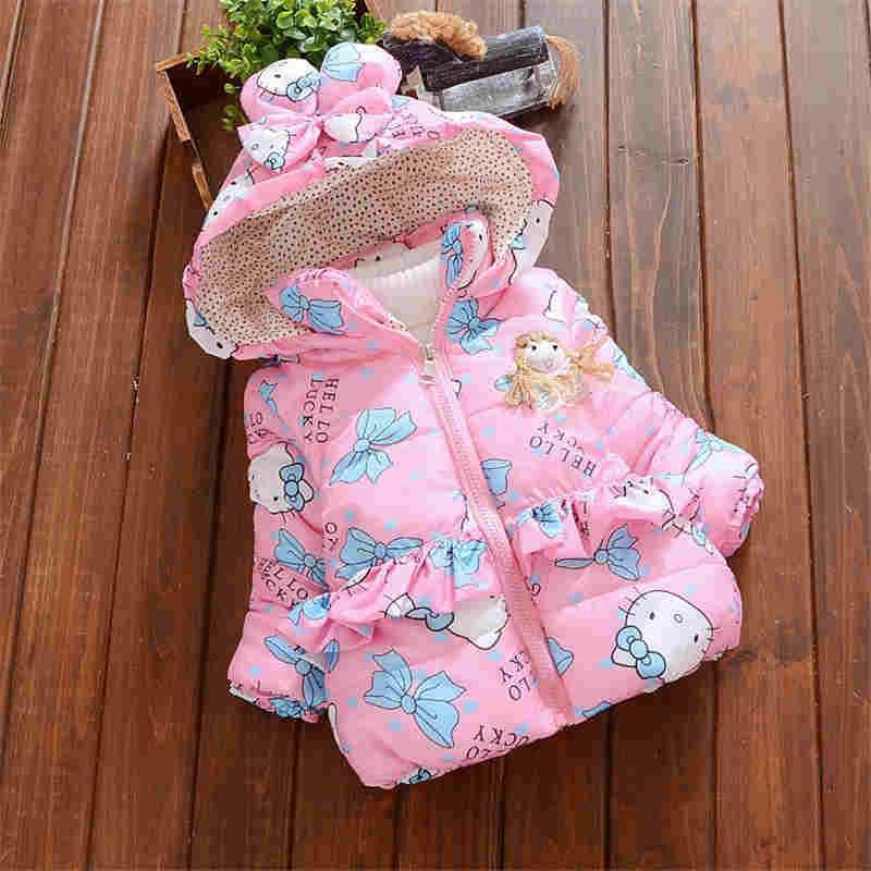 4a6b1f3a822e BibiCola Newborn Outerwear Winter Butterfly Print Hooded Baby Girls ...