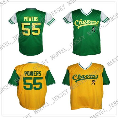 Cheap Custom Kenny Powers Charros Eastbound And Down Tv Baseball Jersey Yellow Green Stitched college baseball jersey XS-5XL