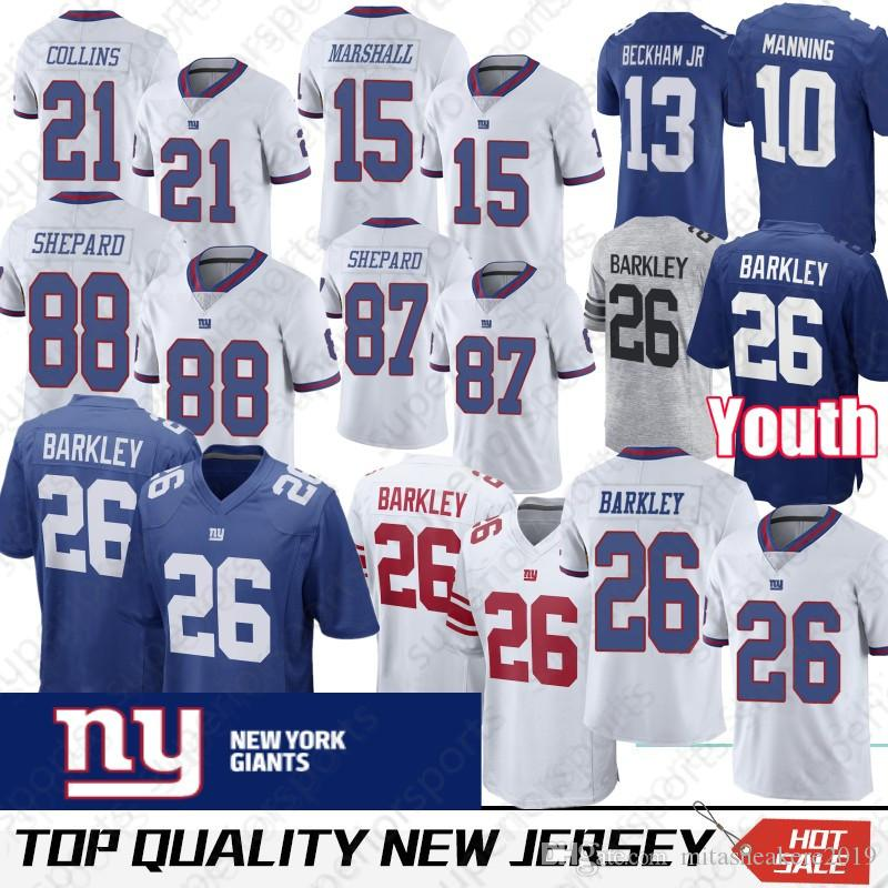 the latest 0871a 66ce3 New York 26 Saquon Barkley Jersey 21 Landon Collins 15 Brandon Marshall 10  Eli Manning 87 Sterling Shepard Gaint Jerseys promotion