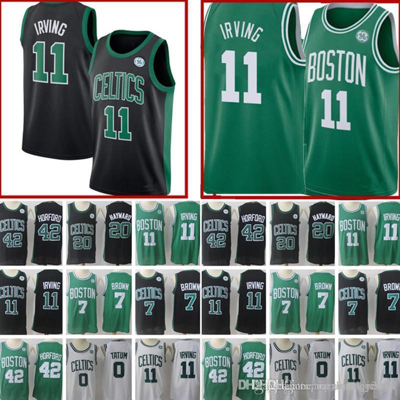 4d5b362ea 2019 New  11 Kyrie Irving Celtics 7 Jaylen Brown Jersey Men 0 Jayson Tatum  20 Gordon Hayward 12 Terry Rozier III 33 Larry Bird Jerseys From ...