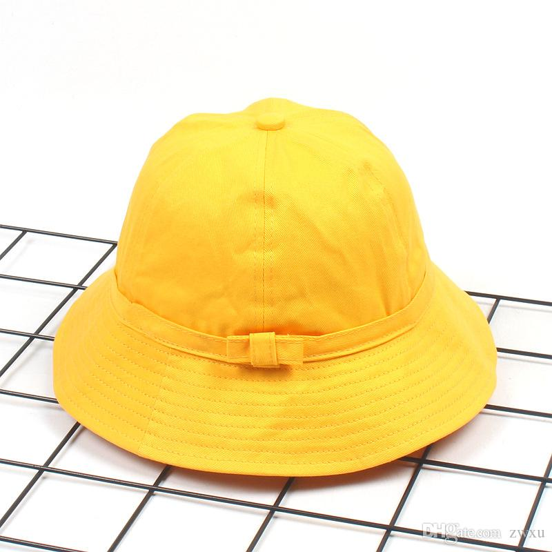 2019 Japanese Department Of Lovely Students Little Yellow Hat Travel Bow  Parenting Cap Fisherman Hat Spring And Summer Simple Sun Basin Hat Paren  From Zwxu 0447ef21962