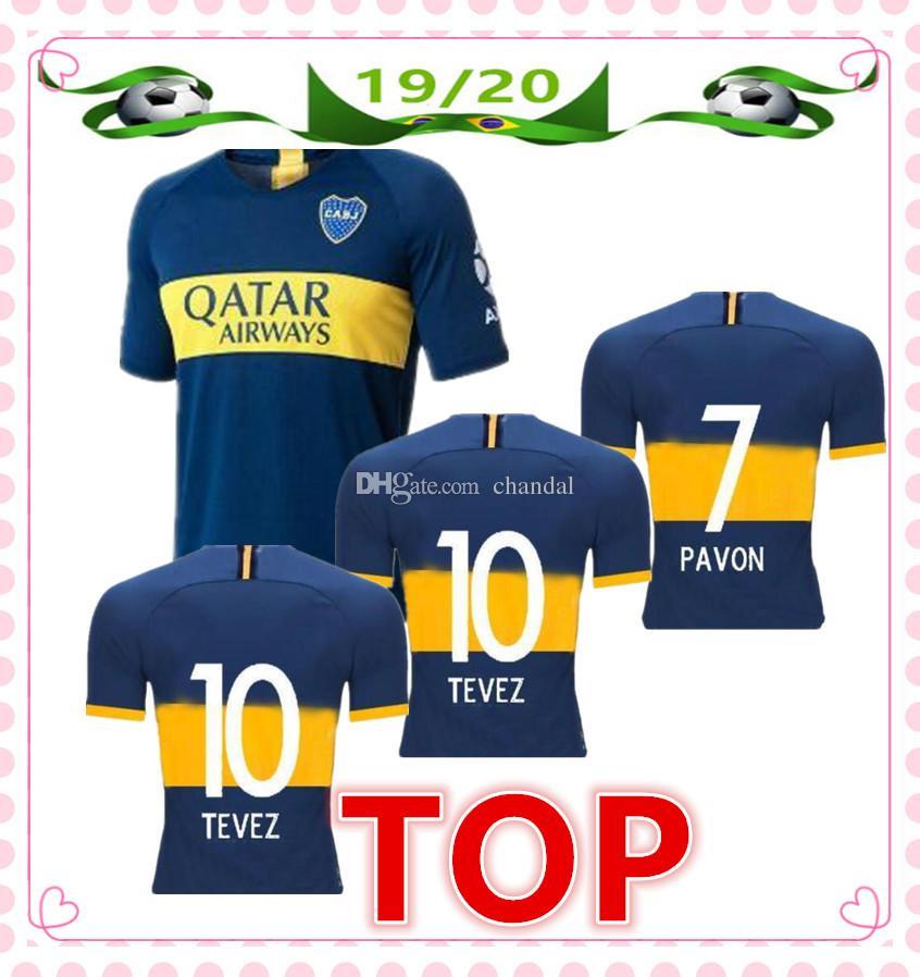 hot sale online 6d903 666b6 New 2019 2020 Boca Juniors Home Soccer Jerseys 19/20 boca juniors jersey #9  BENEDETTO #10 TEVEZ #15 NANDEZ Soccer Shirt Football Uniforms