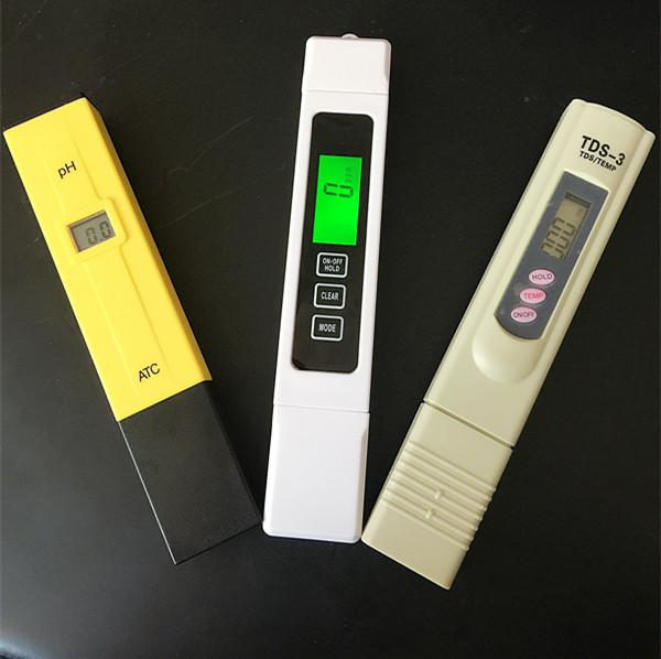 3 pcs/lot TDS EC 0-5000 ppm Tester, PH ATC / TDS calibrate by hold TEMP botton meter, digital Pen,monitor water quality for