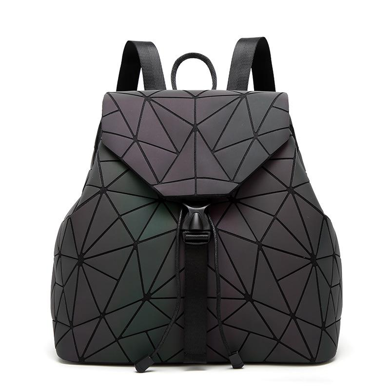 585b0d0093 Women Laser Luminous Backpack Fashion Geometric Shoulder Bag Folding  Student School Bags For Teenage Girl BaoBao Backpack BB119 Backpacks For  Teens Cheap ...