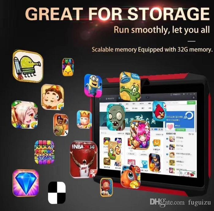دي إتش إل الحرة طفل اللوحي Q98 رباعية النواة 7 بوصة 1024 * 600 HD شاشة الروبوت 9.0 AllWinner لA50 1GB RAM 16GB Q8 مع واي فاي بلوتوث مع صندوق البيع بالتجزئة