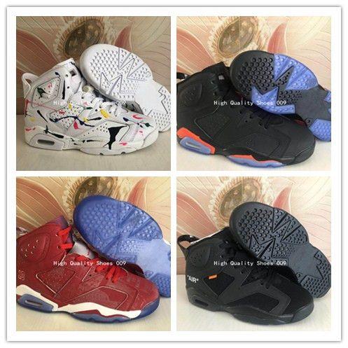 2408c011a8 Moda Scarpe 2019 Nuovo Arrivo 6 Kaws X Freddo Bianco Brillante Rosso Tutto  Nero Uomo Scarpe Da Basket Donna AAA Qualità 6 S Moda Sport Sneakers Taglia  36 47 ...