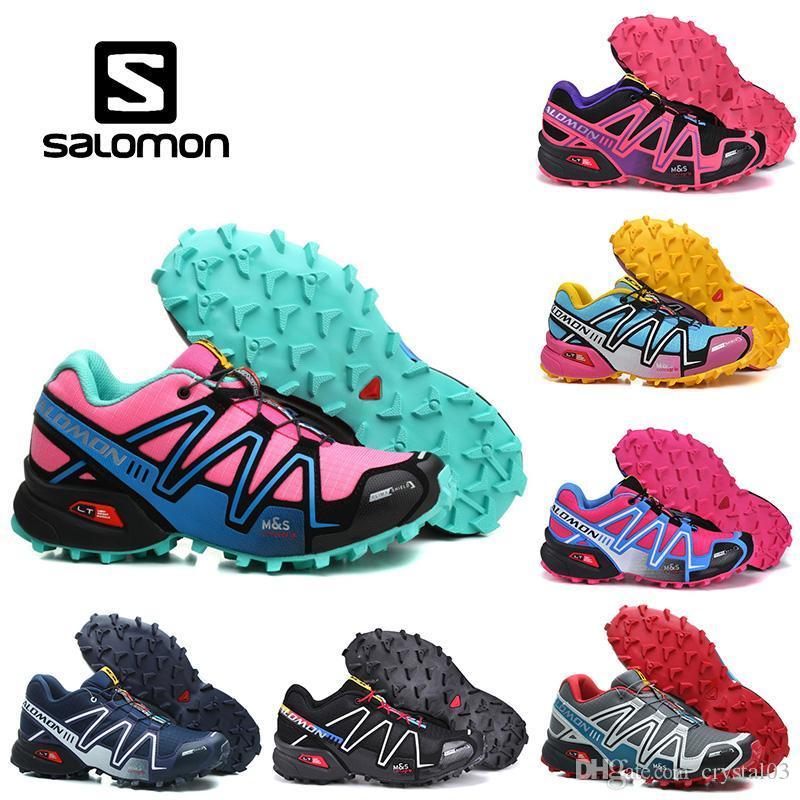 0ffeff01a0519 2019 Solomon Speedcross 3 Mens Women Outdoor Shoes Speed Cross 3 Cs Pink  Black Green Purple Blue Athletic Running Sports Sneakers 36 46 From  Crystal03