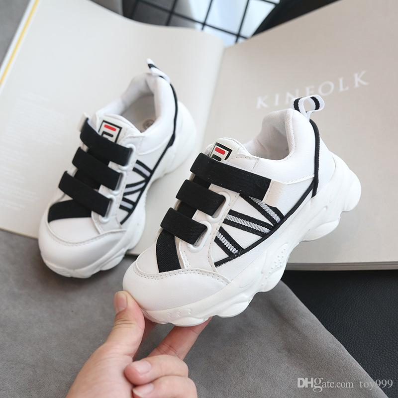 Fashion Brand spring autumn Reflective New child sports shoes Korean version Boy Leisure Breathable run Soft bottom Girl Luminous Shoes