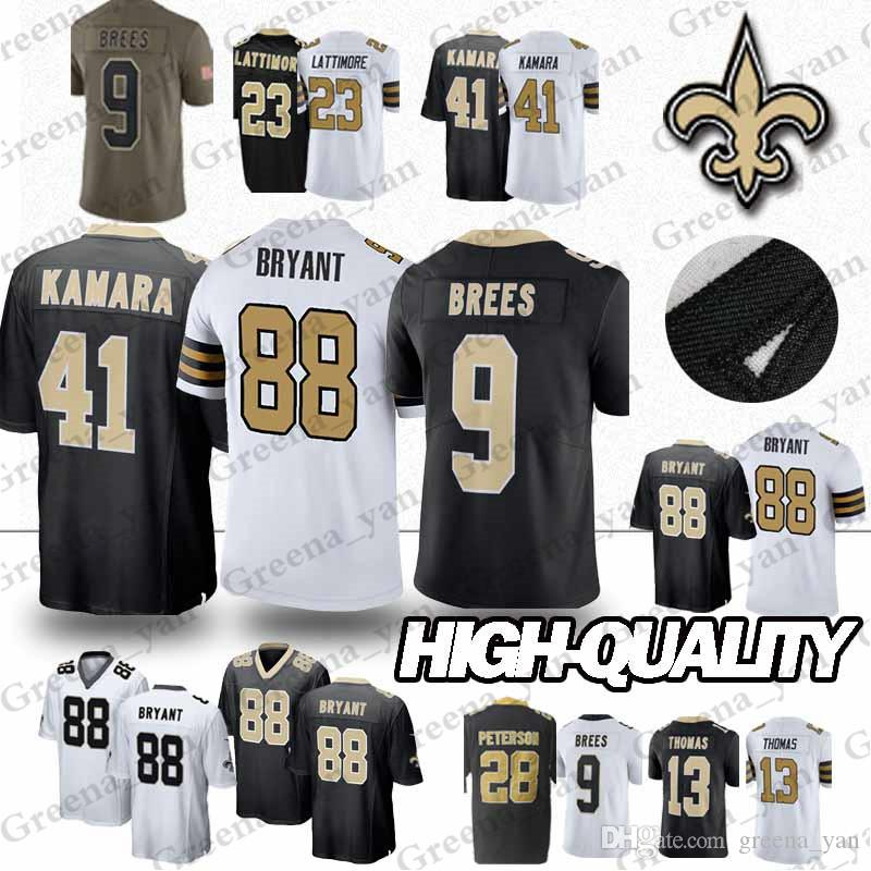 796e6de24 Compre 41 Alvin Kamara 9 Drew Brees 13 Michael Thomas Nova Orleans Saints  Jerseys 23 Marshon Lattimore 88 Dez Bryant Jersey Juventude E Adulto De  Greena yan ...
