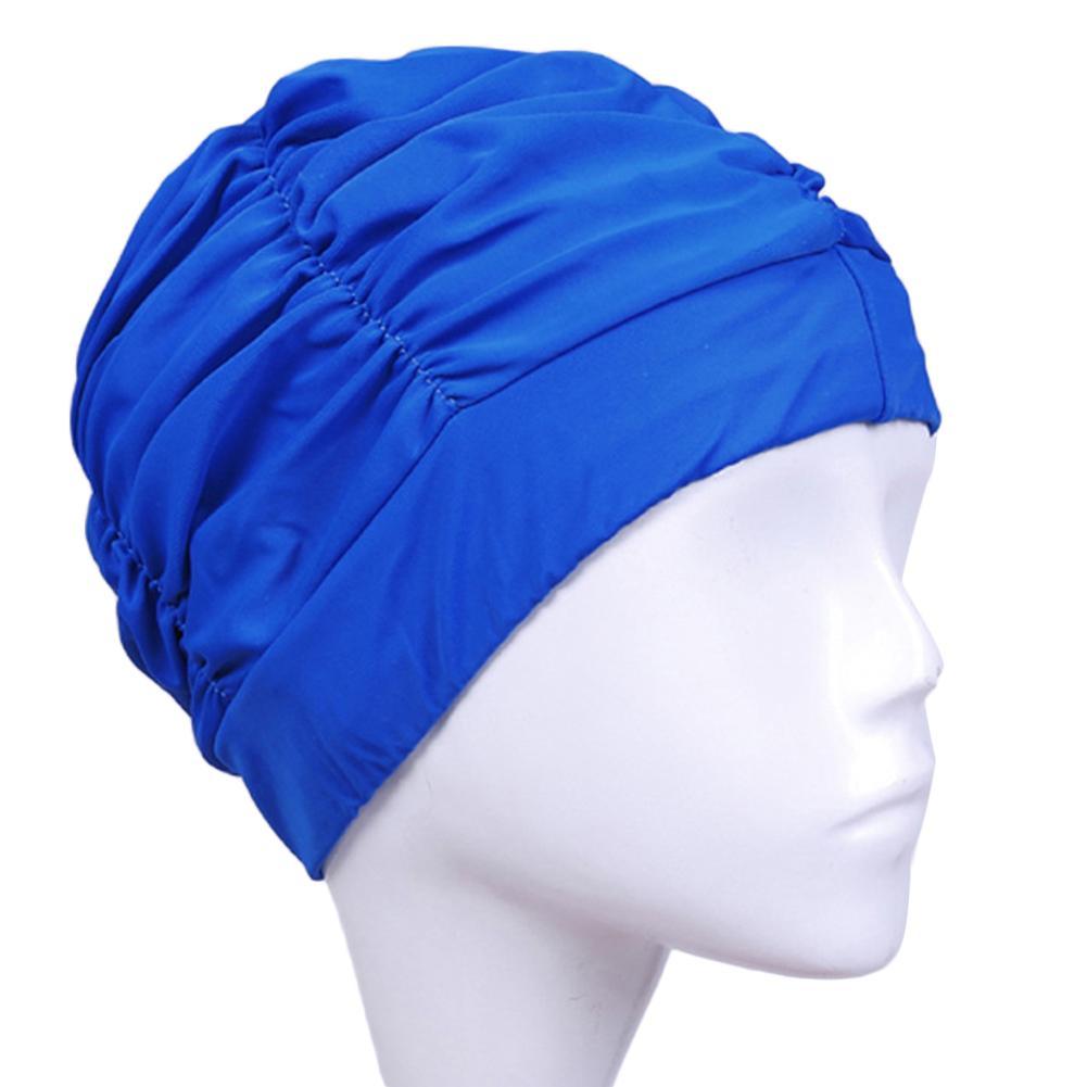 7e85e9082 Compre Longo Cabelo Esportes Nadar Piscina Chapéu Turbante De Nylon  Elástico Para Homens Mulheres Tamanho Livre Touca De Natação De  Kangshifuwat